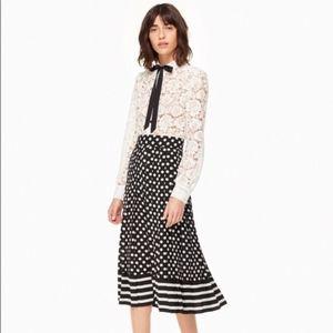 NWT Kate Spade pleated midi skirt size 00